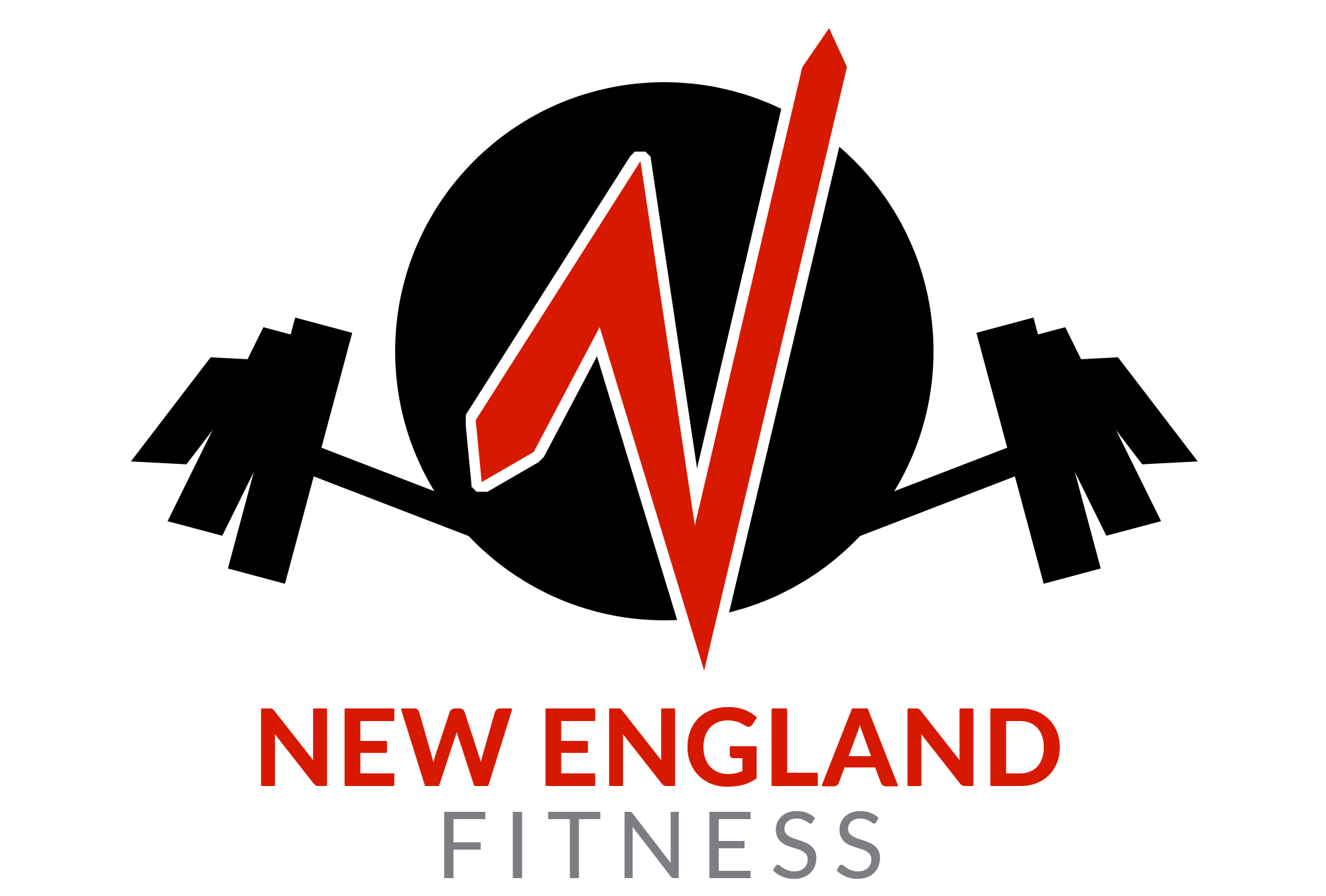 NEW-England-Fitness--Barbell-Black-Red